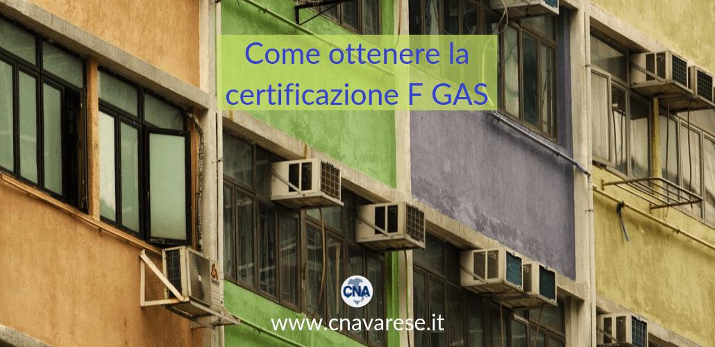 Come ottenere la certificazione F GAS