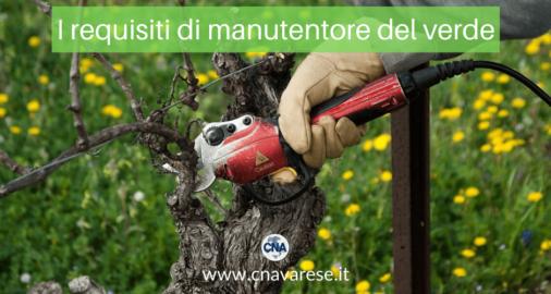 requisiti giardiniere manutentore verde
