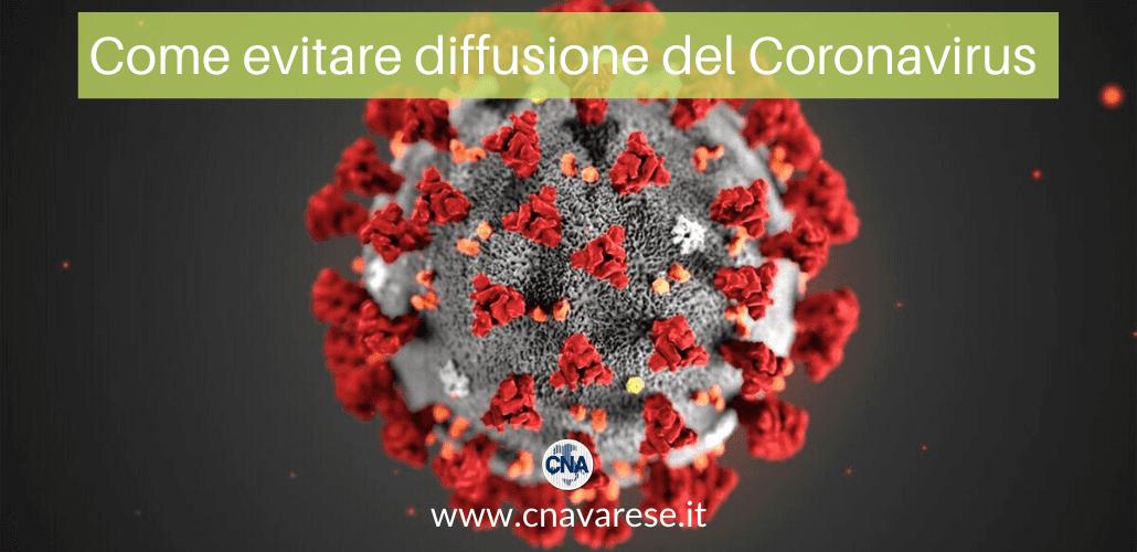 evitare diffusione coronavirus