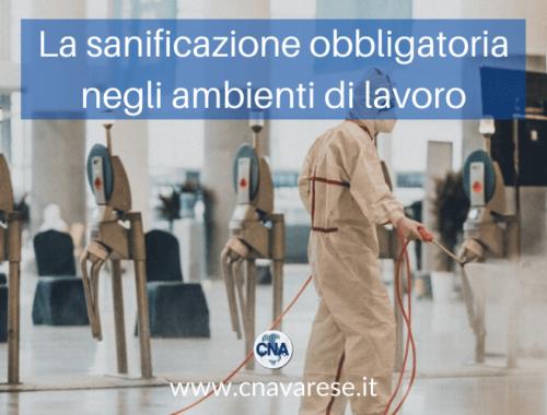 sanificazione obbligatoria ambienti lavoro