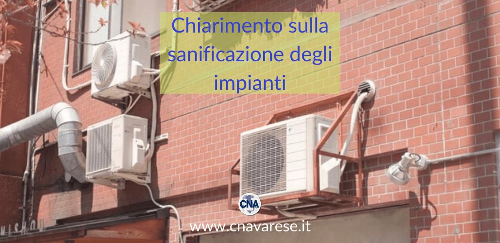 chiarimento unioncamere sanificazione impianti