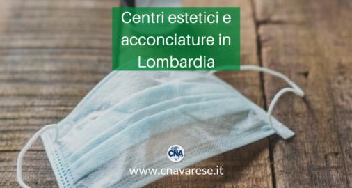 riaprire centri estetici acconciature Lombardia