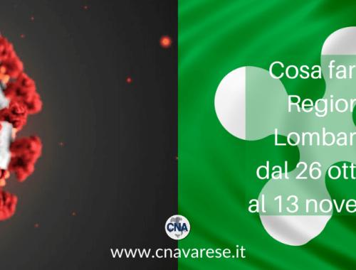 Cosa fare in Regione Lombardia dal 26 ottobre