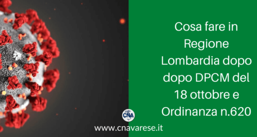 Cosa fare in Regione Lombardia dopo DPCM e Ordinanza