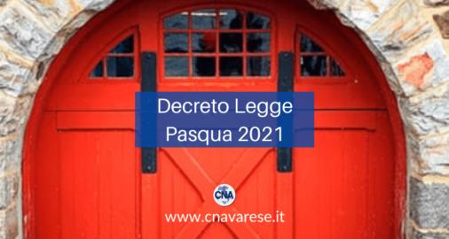 Decreto Legge Pasqua 2021
