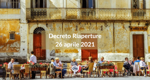 Decreto Riaperture 26 aprile