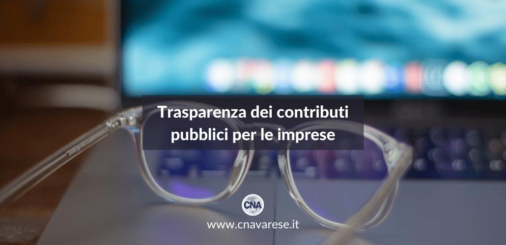 Trasparenza contributi pubblici imprese