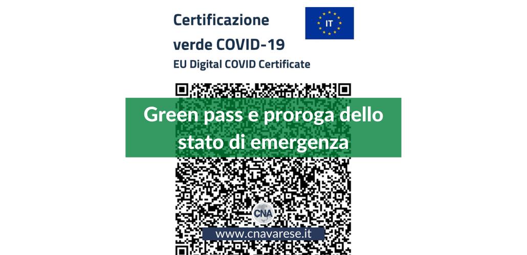 Green pass e stato di emergenza
