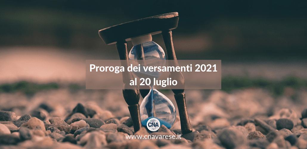 Proroga versamenti 2021   CNA Varese