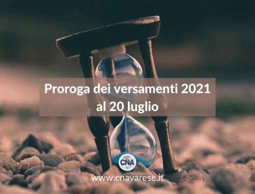 Proroga versamenti 2021 | CNA Varese