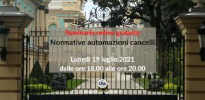 Normative automazioni cancelli