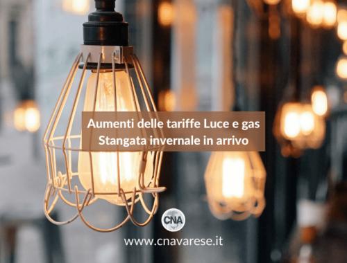 Aumenti tariffe luce gas