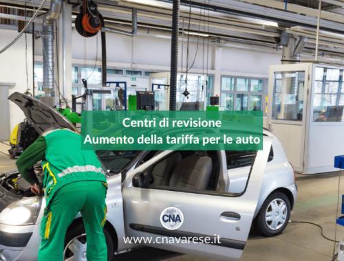 Centri revisione aumento tariffa auto